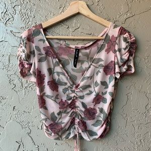 💝Urban Outfitters Rose Sheer Top